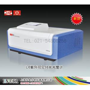 L6紫外可见分光光度计 7寸彩屏 上海仪电分析仪器有限公司 市场价21980元